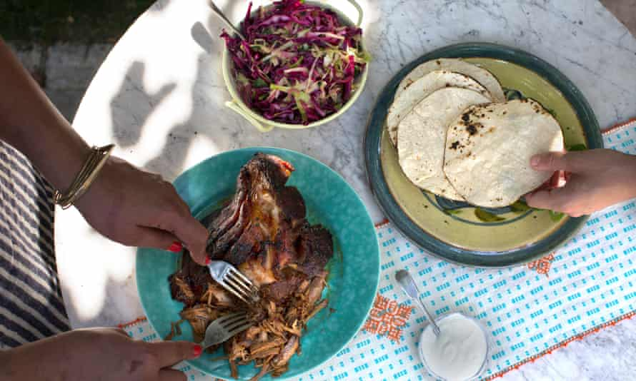 Pork tacos: 'I learned how crucial it is to give salt the time to distribute itself and diffuse,' says Samin. 'It's why we salted our meat the night before cooking at Chez Panisse.'