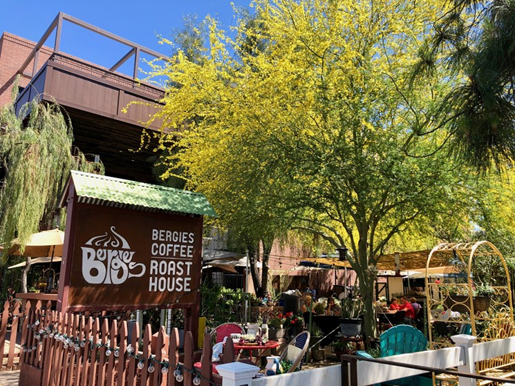 Bergies, the backyard-style coffee shop.