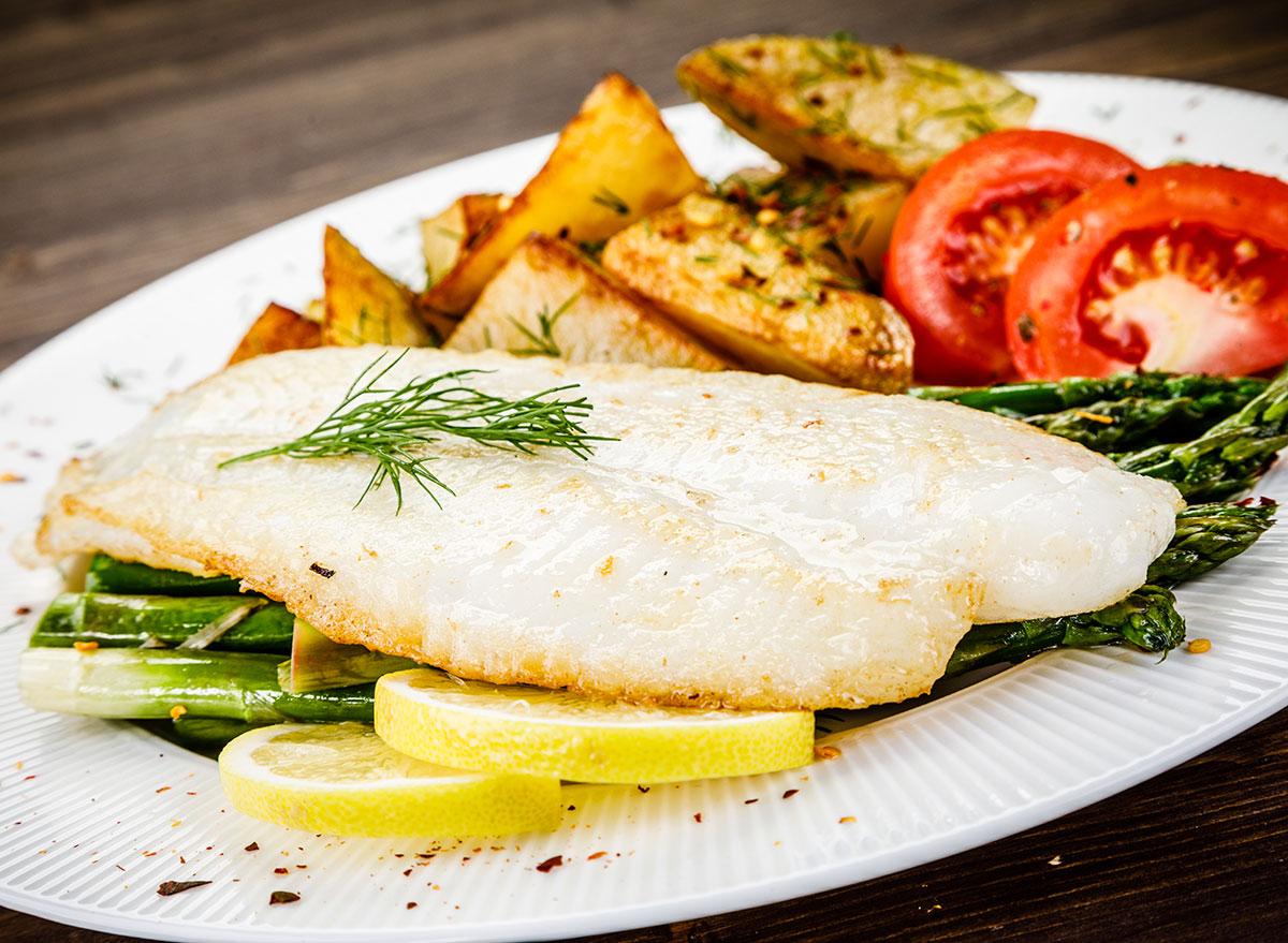 lemon sole potatoes vegetables