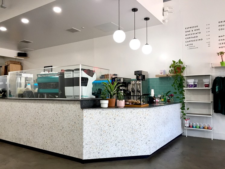 Sip in the coffee and setting at Mythical Coffee.