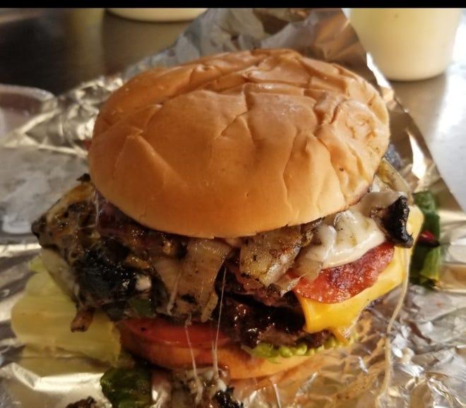 The Adam burger from Adam's Eden food truck