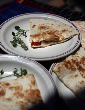 Herbed Quesadillas appetizers, Wednesday, June 16, 2021. (Hillary Levin/St. Louis Post-Dispatch/TNS)