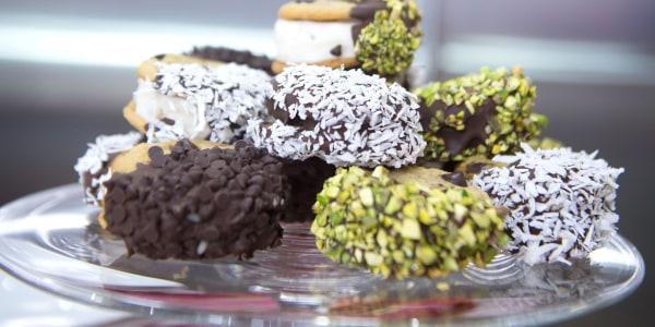 Chocolate-Dipped Vegan Ice Cream Sandwiches