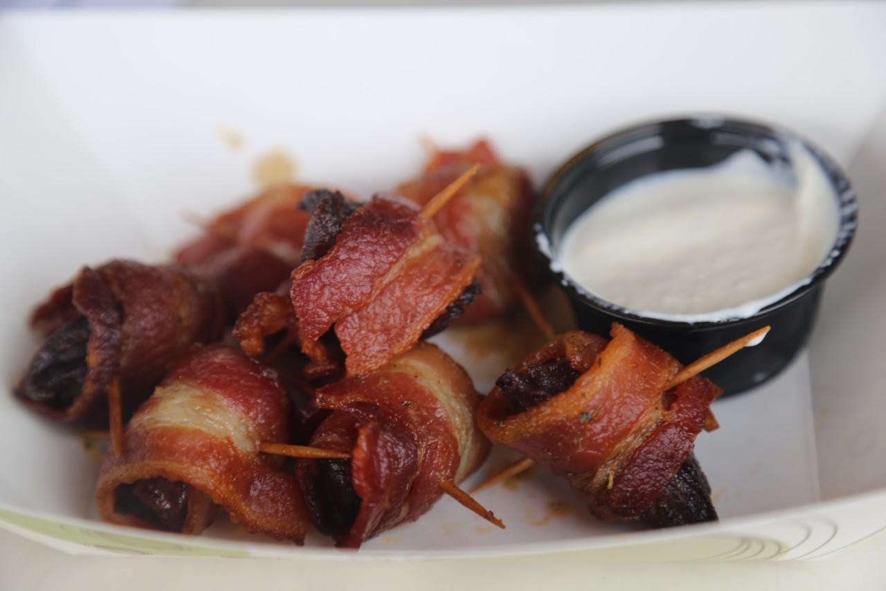 Bacon Wrapped Prime Rib Bites